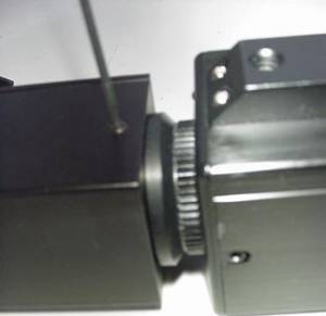 Fig 6b: attaching C-mount to spotting scope